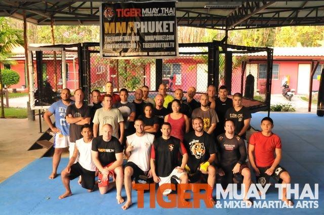 Training at Tiger Muay Thai and MMA, Phuket, Thailand